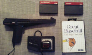 Jeux, manette et light phaser Sega Master System
