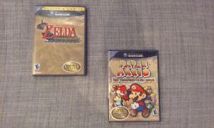 Jeux Zelda Windwaker et Paper Mario Nintendo Gamecube