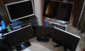 Assorted apple devixes,  monitors,  hp dv2 laptop
