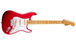 fender stratocaster classic vibe 50 squier fiesta red maple neck