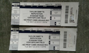 Taylor Swift - May 22 Centurylink Field 2 Tickets