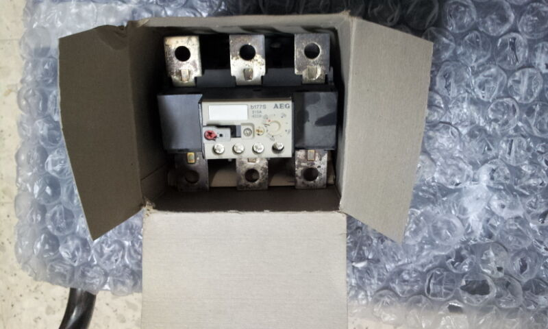 AEG B177S THERMAL OVERLOAD RELAY 120-150A 910-341-792 STAND ALONE DIN MOUNT