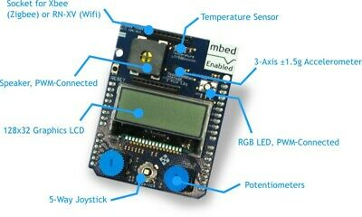 Mbed-016.1 Shield Dev Board Display Accelerometer Speaker Rgb Led Buttons
