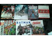 7 marvel and dc hard back books in brand now condition