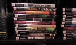 11 various PS2 games ....working condition