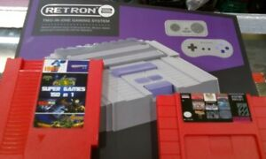 Retron 2 plays Nes+ Super +2 controls+150 in 1 game=$89.99