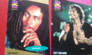 KISS LED ZEPPELIN BOB MARLEY ECT,,Super  rock star cards