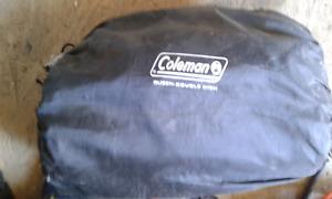 Coleman queen air mattress double high x2