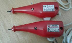 Electric Pencil Engraver Model WEN 21 Red Vintage