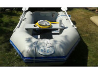 2 Man Rubber Dinghy by Wav-Eco for sail in as New Condition