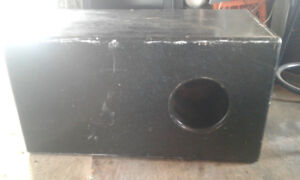 Black Subwoofer box w/ 2 15inch subs