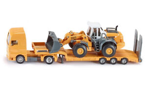 ✪ SIKU - 1839 Liebherr Low Loader with Four Wheel Loader 1:87
