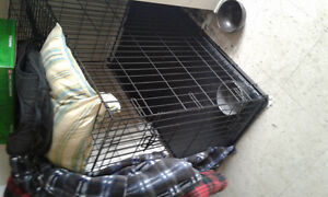 DOG KENNEL AND BED COMBO