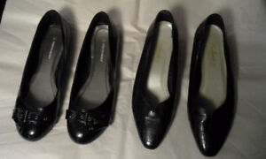 2 pair of Woman's dress shoes - low heel
