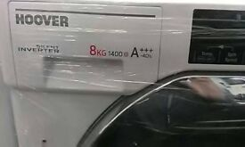 (ex display) HOOVER HBWM 84TAHC Integrated 8kg 1400 Spin Washing Machine - White