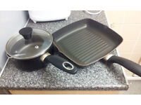 "NON STICK POT 6.5"" X 3"" & PAN 9.5"" X 9.5 USED IN EXCELLENT CONDITIONS"