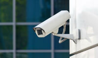 Installation et configuration de caméra de surveillance+ cablage