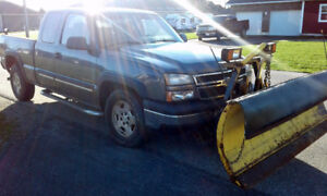 2007 Chev Extended Cab 4x4 Pickup with Fisher plow