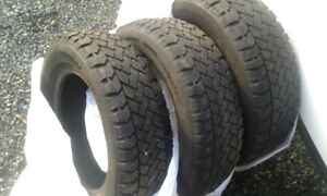 3 winter studded tires
