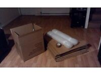 10 Removal boxes plus tape and bubble wrap