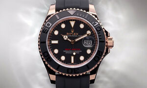 Rolex Yatcht Master Rose Gold & Rubber Band