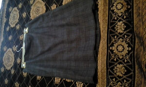 Moschino grey plaid skirt size 8