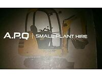 Mini digger hire with skilled operator