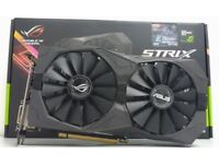 Asus rogstrix 1050ti in perfect working condition about 6 months old come with box graphics card