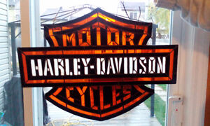 vitrail stained-glass HD Harley Davidson