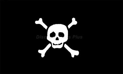 Pirate  Richard Worley Small Skull Crossbones 3x5 Polyester Flag