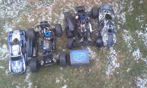 2 used nitro rc cars and brand new engine
