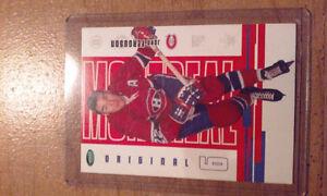 Carte de hockey anciens joueurs des Canadiens de Montréal