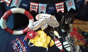 DIY Photo Booth with Nautical Themed Props for wedding, birthday
