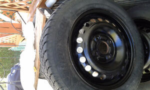 winter tires with rims 185-75-15