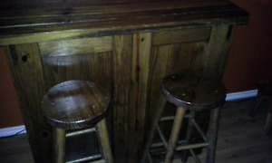 Vintage Hand Crafted Bar & Stools