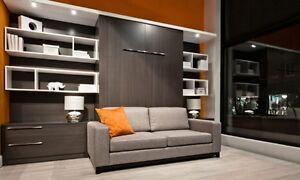 Lit escamotable, bureau, Sofa, PRIX du fabricant + Service
