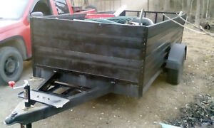 home made 12ft box utility trailer for sale