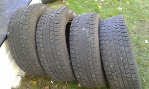 winter tires with rims 215-65-15 West Island Greater Montréal image 1