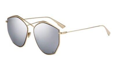 Christian Dior Stellaire 4 J5G DC Gold Frame Silver Mirror Women Sunglasses New