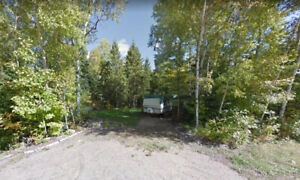 "NICE 3 ACRE BUILDING LOT just north of Barry""s Bay."