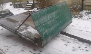 older sled trailer