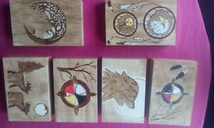 wood burned boxes