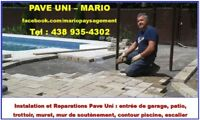 Reparations/Installation Pave Uni ***Laval  et Rive Nord***
