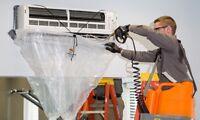 Mini split heat pump cleaning and preventative maintenance