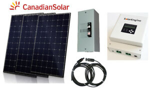 900W Solar Kit 3 x 300W solar panel MPPT controller trailer