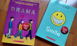 Signed copies of Drama and Smile