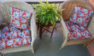 Beautiful outdoor cushions for deck or porch