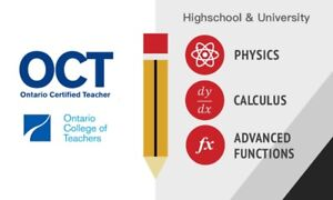Math & Physics Tutor (Certified) Richmond Hill Vaughan
