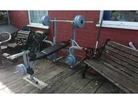 Weight lifting bence with 70kg weights