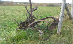 Old plow and cultivator
